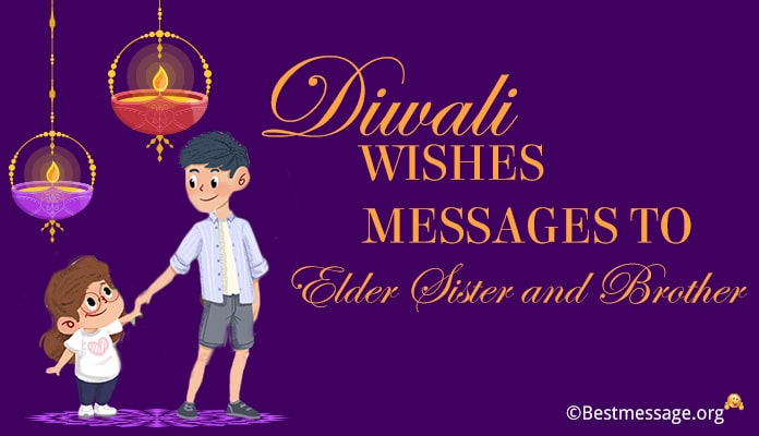 Diwali wishes Messages to Elder Sister, Brother