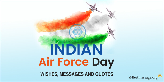 Happy Indian Air Force Day Wishes Messages, Quotes Image