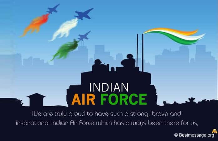 Indian Air Force Day Messages, Greetings Wishes