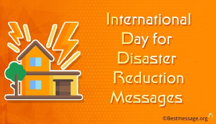 international Day for Disaster Reduction Messages, Disaster Quotes