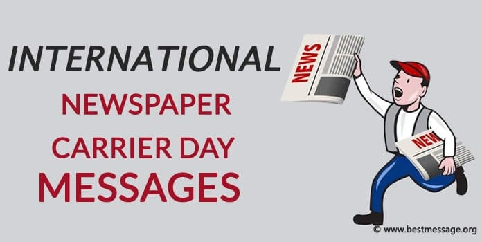 International Newspaper Carrier Day Messages