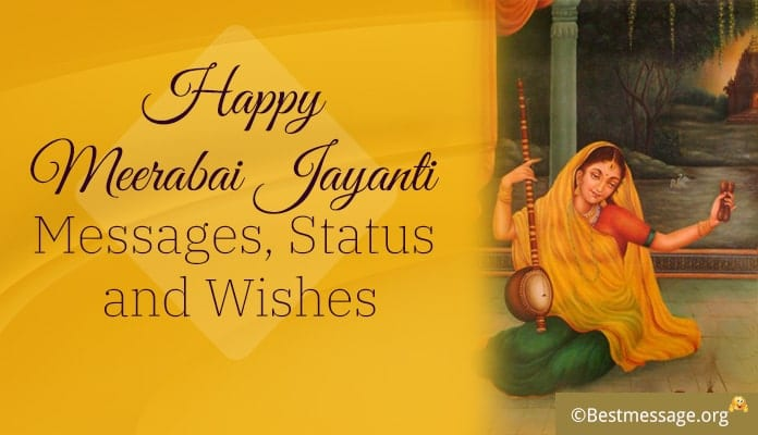 Happy Meerabai Jayanti Messages, Whstapp Status Image