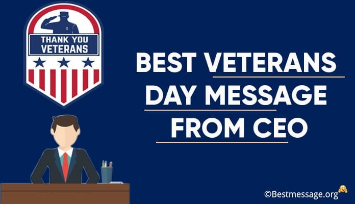 Veterans Day Message from CEO