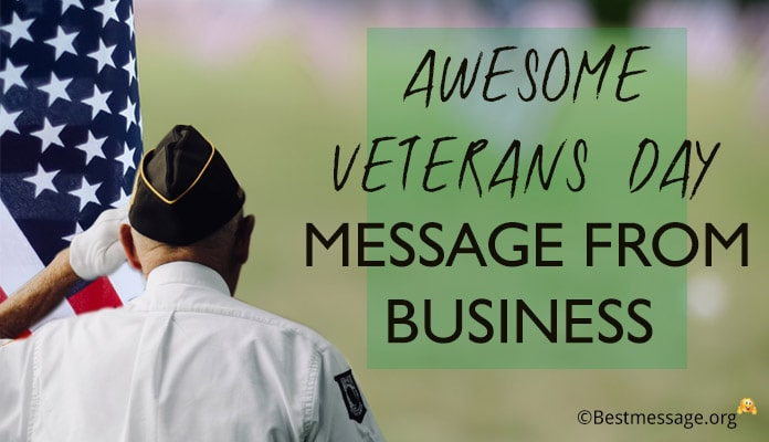 Veterans Day Message from Business