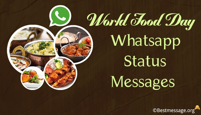 World Food Day Whatsapp Status Messages
