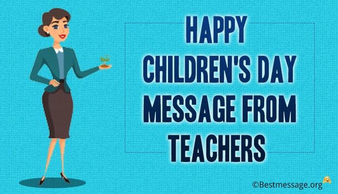 Children's Day Message from Teachers