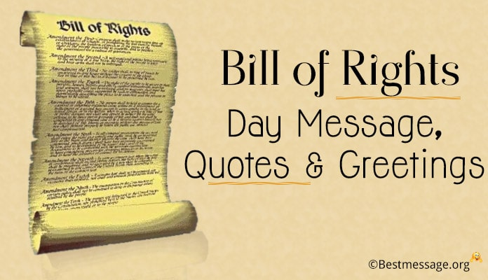 December 15 - Bill of Rights Day Messages, Quotes