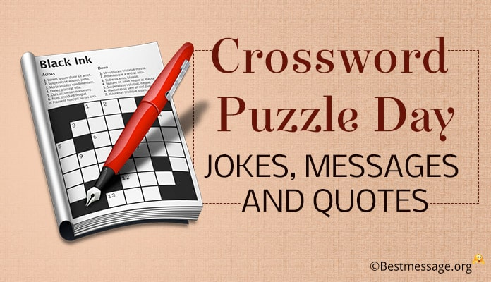 Crossword Puzzle Day Jokes Messages, Quotes
