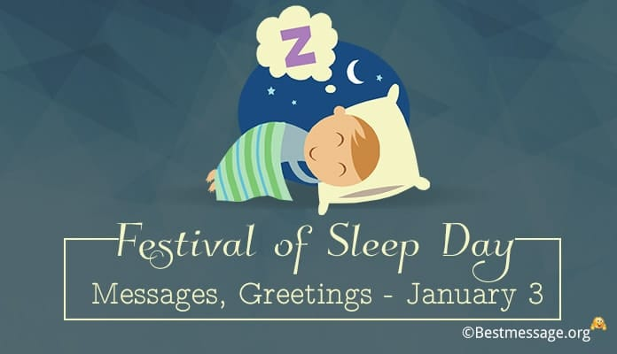 Festival of Sleep Day Messages, Sleep Quotes, Greetings Image