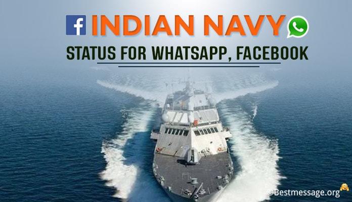 Indian Navy Whatsapp Status - Navy Day Status