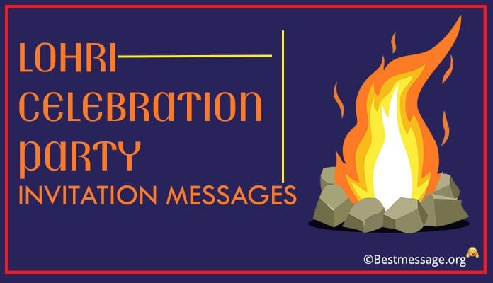 Lohri Party Invitation Messages – Invitation Card