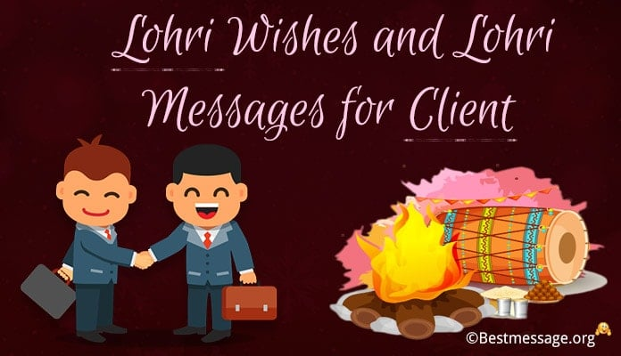 Happy Lohri Wishes Messages for Business Clients