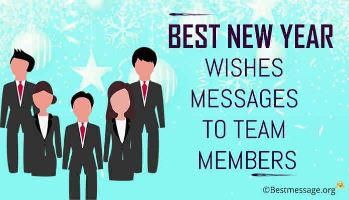 New year Wishes Messages to Team Members