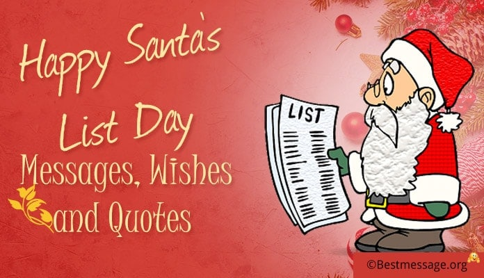 Happy Santa's List Day Messages, Quotes