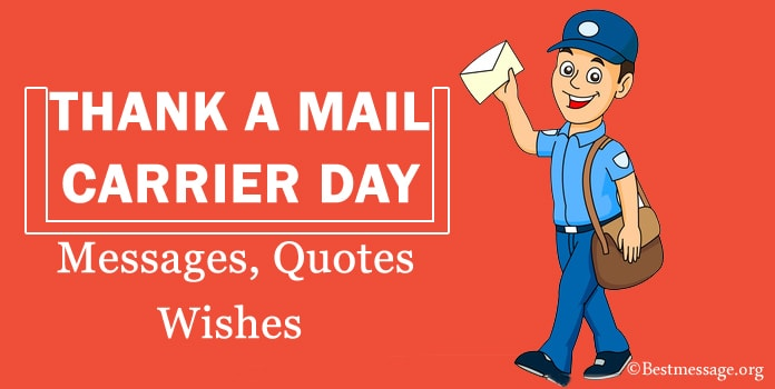 Thank A Mail Carrier Day Card Messages Quotes