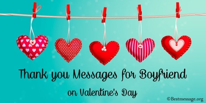 Thank you Messages for Boyfriend on Valentine's Day