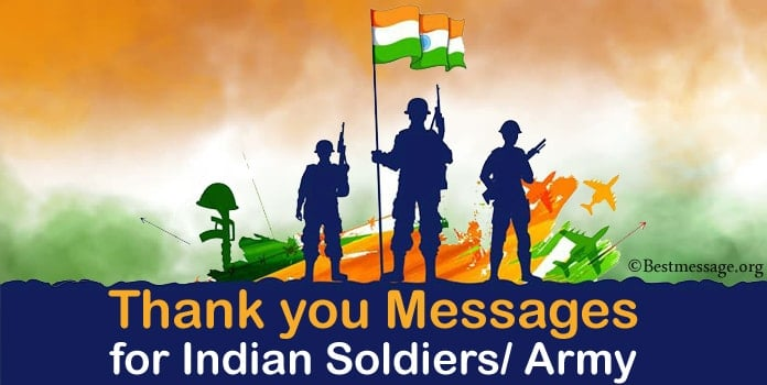 Thank you message for Indian Soldiers, Army