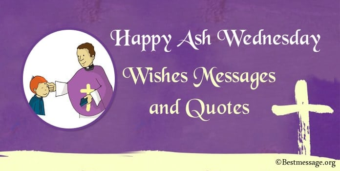 Happy Ash Wednesday messages, Ash Wednesday wishes, Quotes Image