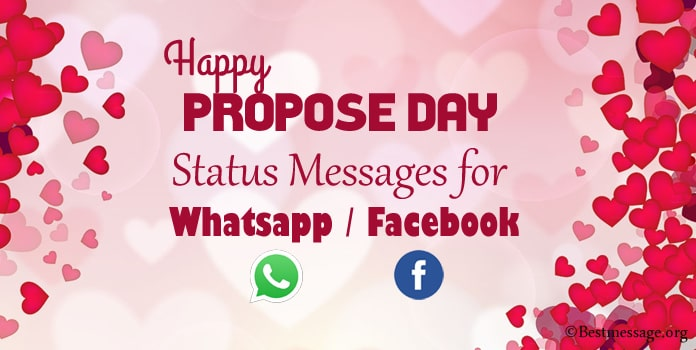 Propose Day Whatsapp Status Messages - Facebook Messages