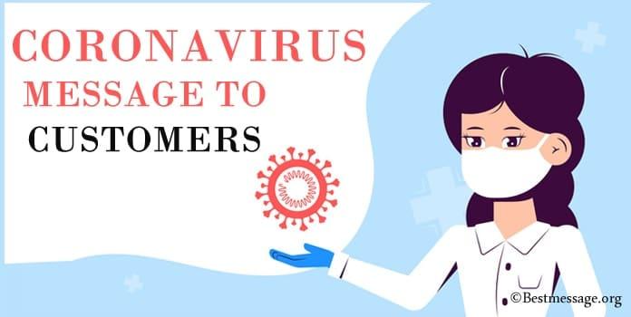 COVID-19 Messages, Coronavirus Message to Customers