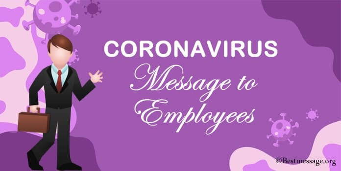 coronavirus messages to employees, staff messages