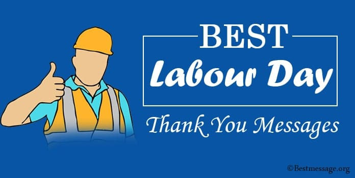 Labor day Thank You Messages, Labour Thank You Greeting Cards