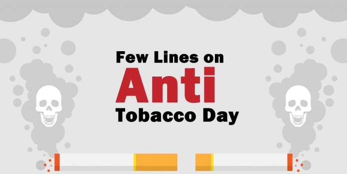 lines on Anti Tobacco Day, Anti Tobacco Slogans