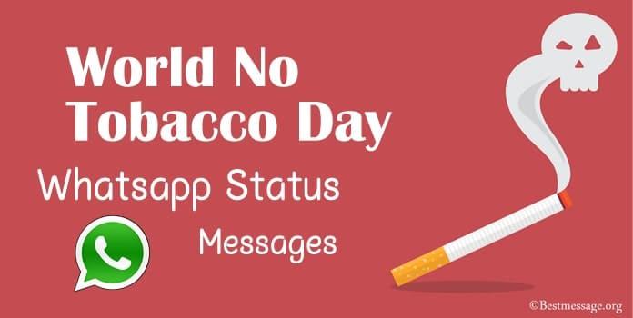 World No Tobacco Day 2020 Whatsapp Status Messages