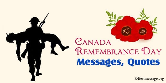 Canada Remembrance Day Messages, Remembrance Quotes