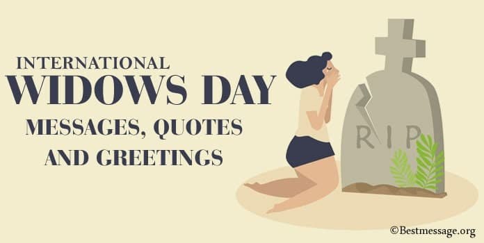 International Widows Day Messages, Quotes, Greetings