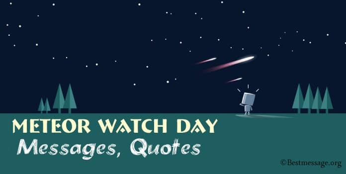 Meteor Watch Day Messages, Quotes Greetings