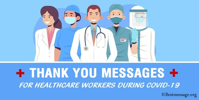 Thank You Messages for Healthcare Workers during COVID-19