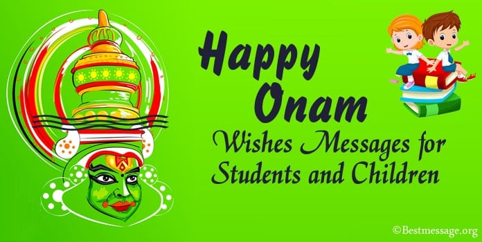 Onam Wishes Messages for Students and Children