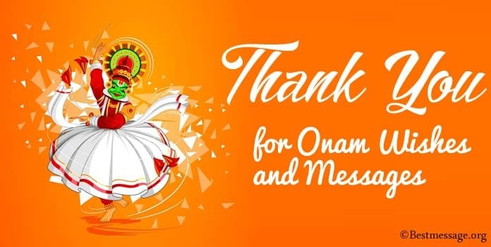 Thank You for Onam Wishes, Onam Messages