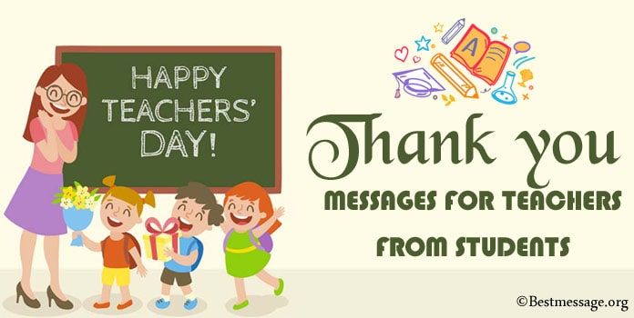 Thank you Message for Teachers from Students