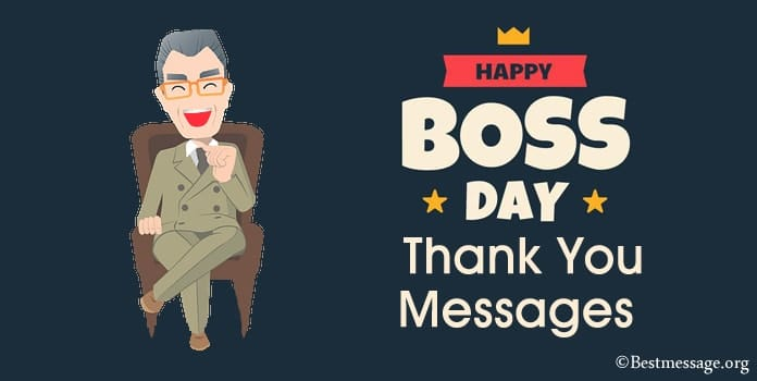 Happy Boss Day Thank You Messages, Boss Quotes Examples