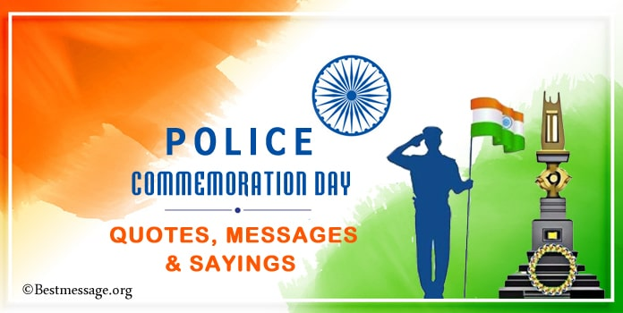 Police Commemoration Day Quotes, Messages, Police Sayings