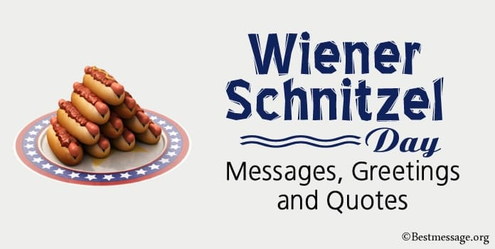Wiener Schnitzel Day messages, wiener schnitzel quotes, greetings