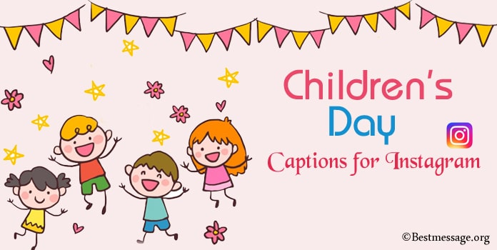Children's Day Instagram Captions, Cute Children Day Quotes Caption