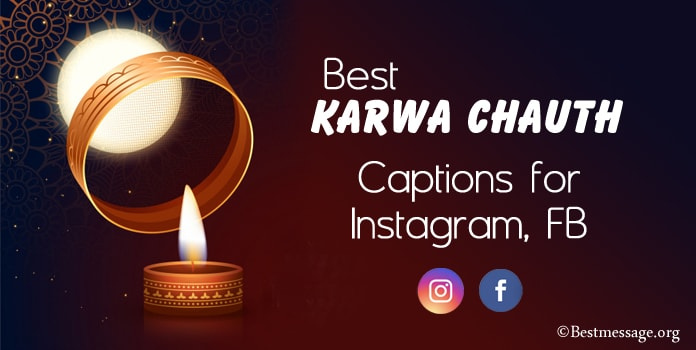 Best Karwa Chauth Captions for Instagram, FB Captions