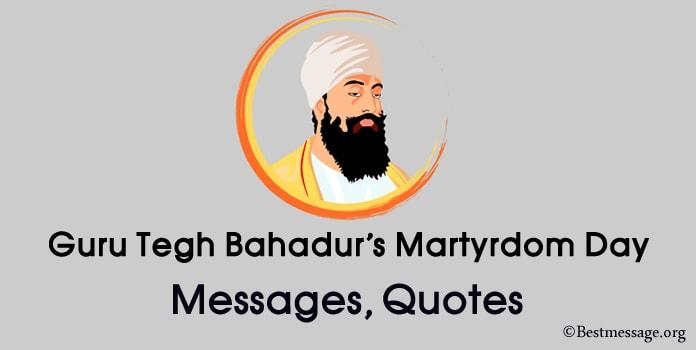 Guru Tegh Bahadur's Martyrdom Day Messages, guru tegh bahadur quotes, Image