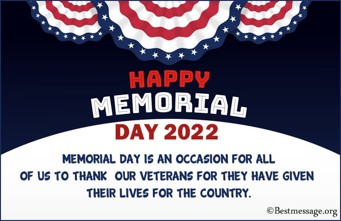 Memorial Day Thank You Messages, Quotes Sayings 2021