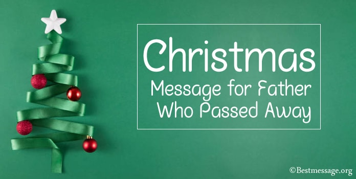 Christmas Message for Father Who Passed Away