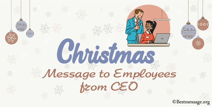 Christmas Message to Employees from CEO