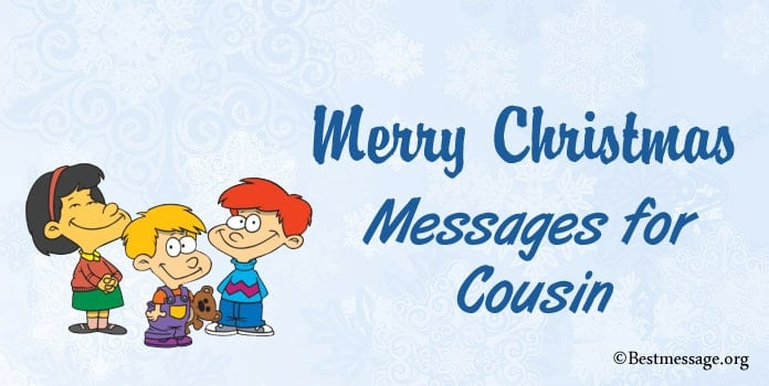 Merry Christmas Messages for Cousin, Holiday Wishes greeting cards