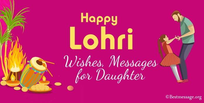 Lohri Messages, Happy Lohri Wishes for Daughter