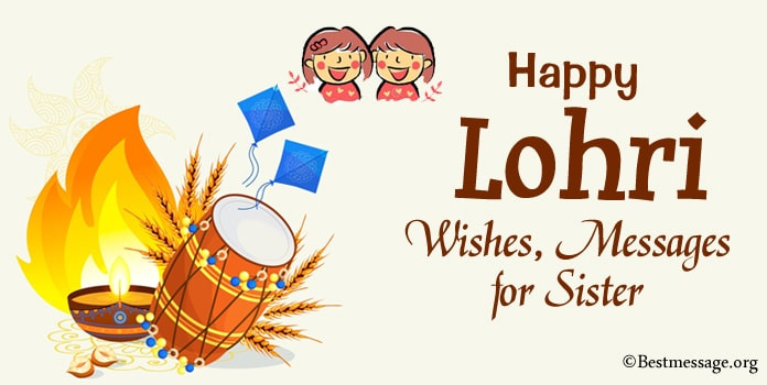 Lohri Messages, Lohri Wishes for Sister