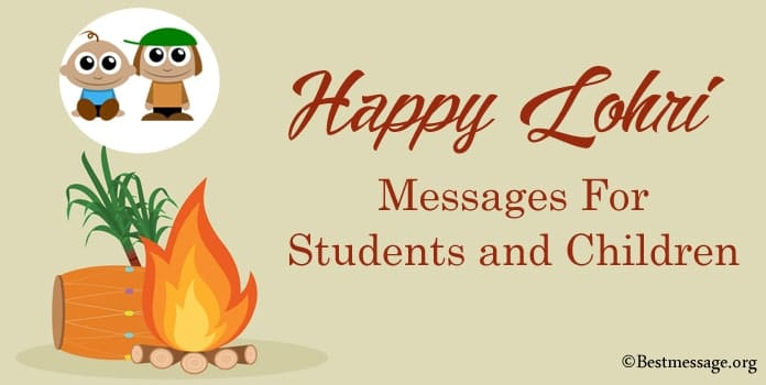 Happy Lohri Messages For Students and Children