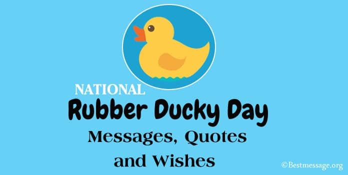 National Rubber Ducky Day Messages, Quotes, Greetings Image