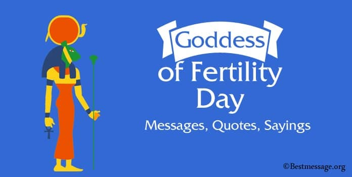 Goddess of Fertility Day Messages, Quotes Sayings